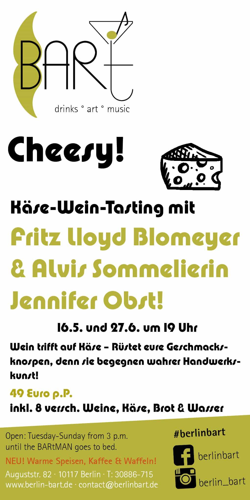 Käse-Wein-Tasting mit ALvis Sommelierin
